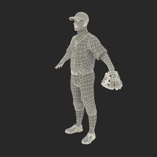 3D model Baseball Player Athletics
