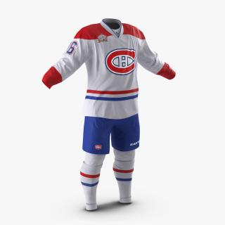3D Hockey Clothes Montreal Canadiens model