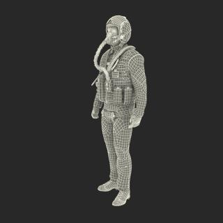 3D US Military Jet Fighter Pilot Pose 2