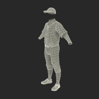 Baseball Player Outfit Generic 7 3D