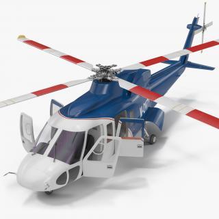 Sikorsky s76 Rigged 3D model