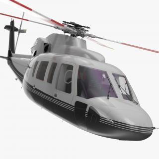 3D Utility Helicopter Sikorsky s76 Rigged model