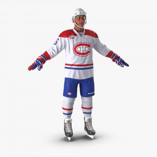 Hockey Player Montreal Canadiens 3D