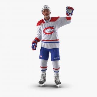 Hockey Player Montreal Canadiens Rigged 3D model