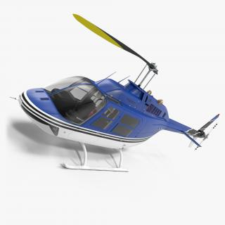 3D Bell 206 JetRanger model