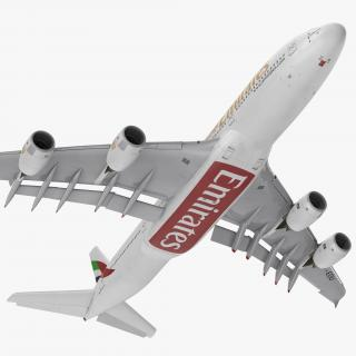 Airbus A380-1000 Emirates Rigged 3D