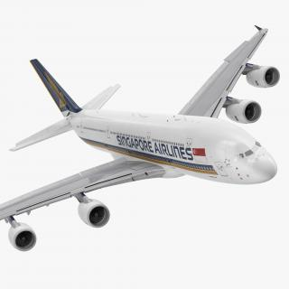 Airbus A380-1000 Singapore Airlines Rigged 3D