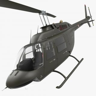3D Bell 206 JetRanger Italian Army Rigged model