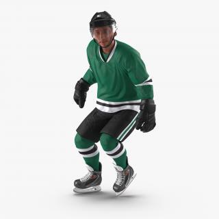 3D Hockey Player Generic Rigged model