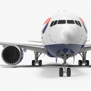 Boeing 777-8x British Airways 3D model