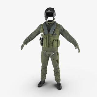 US Military Jet Fighter Pilot Uniform 2 3D model