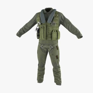 US Military Jet Fighter Pilot Uniform 3 3D model