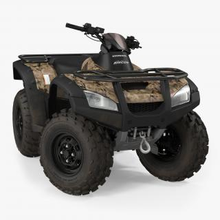 Honda Quad Bike Rigged 3D
