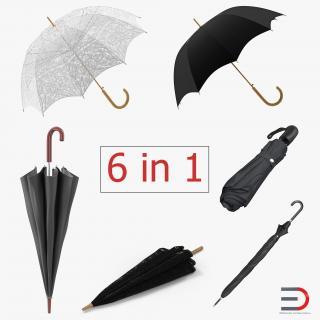 Umbrellas Collection 3 3D