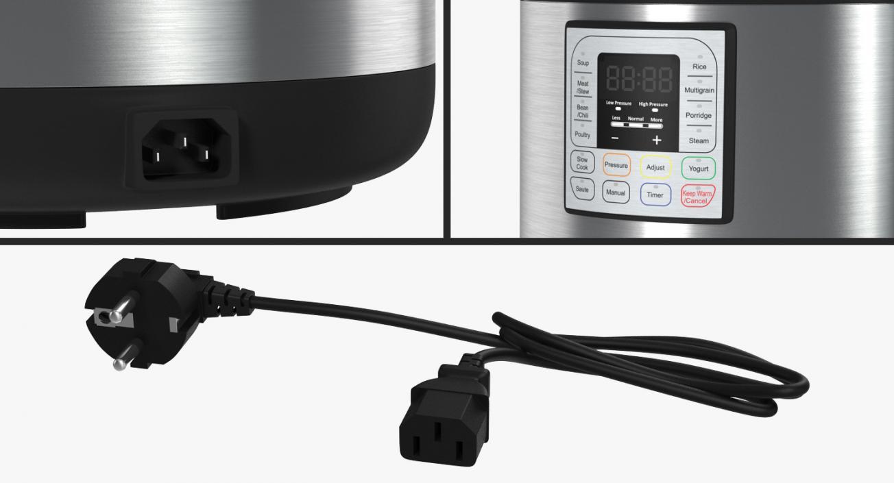 Electric Pressure Cooker 3D model