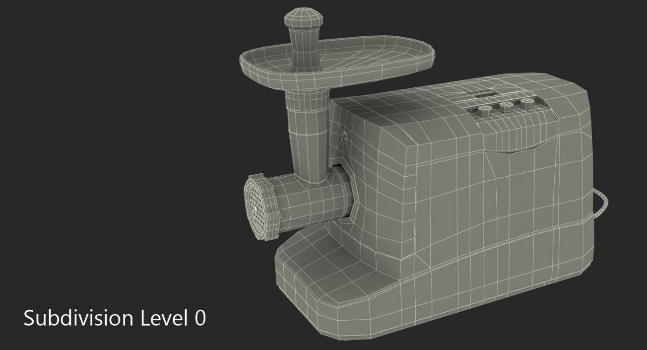 3D Electric Meat Grinder Gander model
