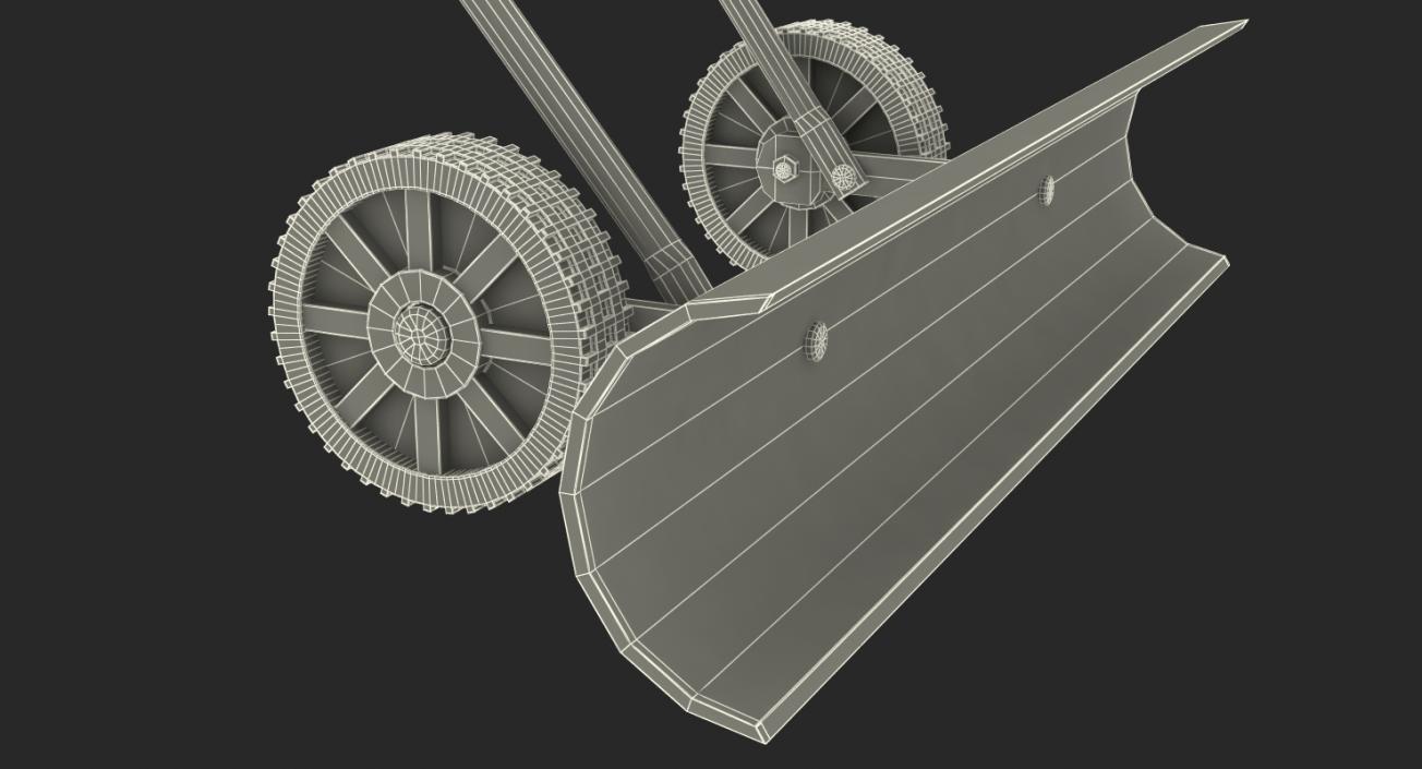 3D Snow Shovel with Wheels model