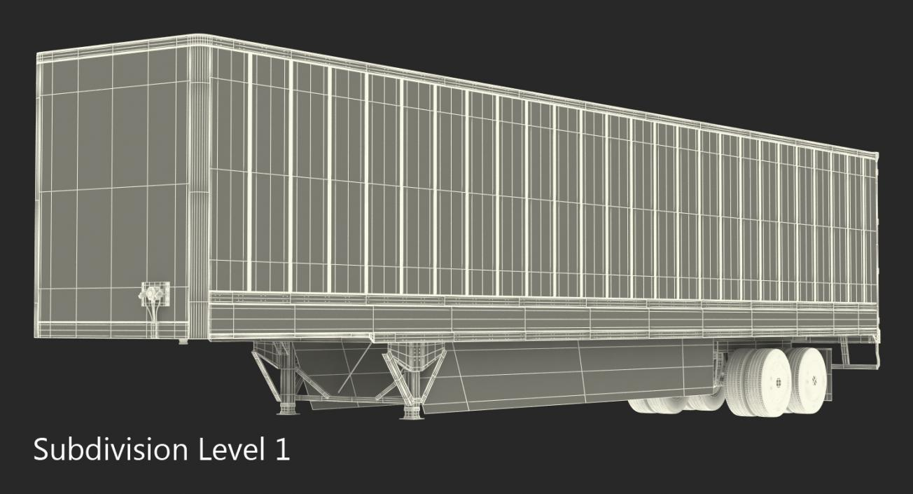 Tesla Semi Big Trailer 3D