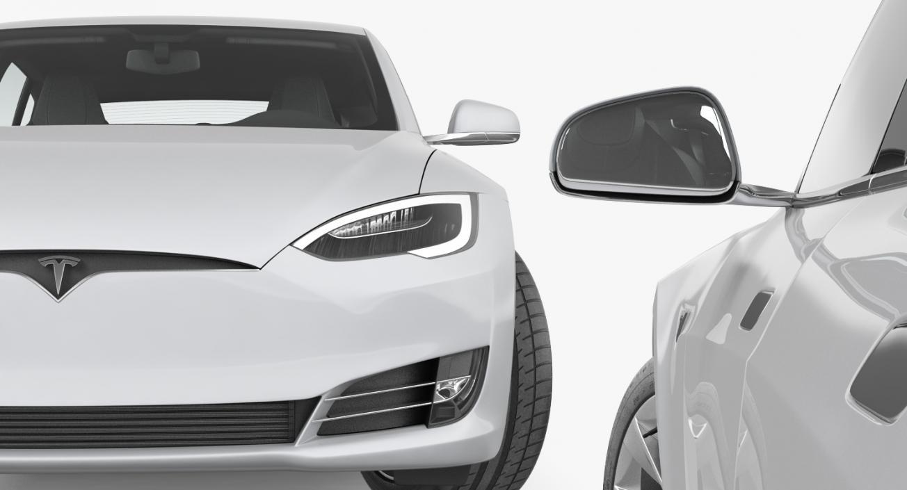Tesla Model S 60D 2017 Rigged 3D model