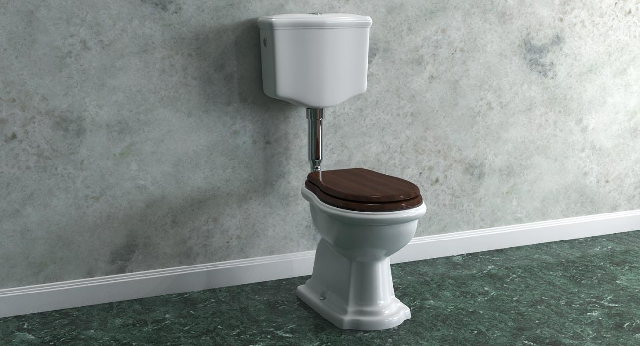Old Style High Level Toilet 3d 3d Molier International