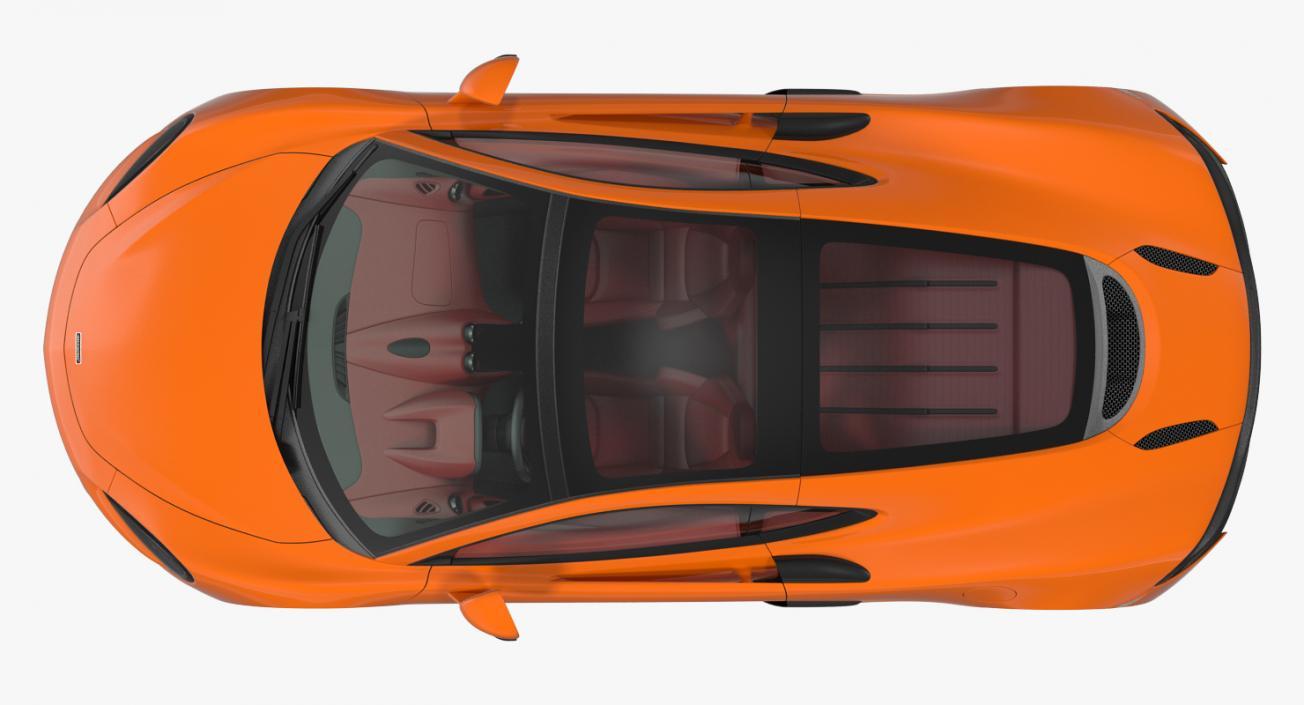 3D model Sports Car McLaren 570GT 2017 Simple Interior
