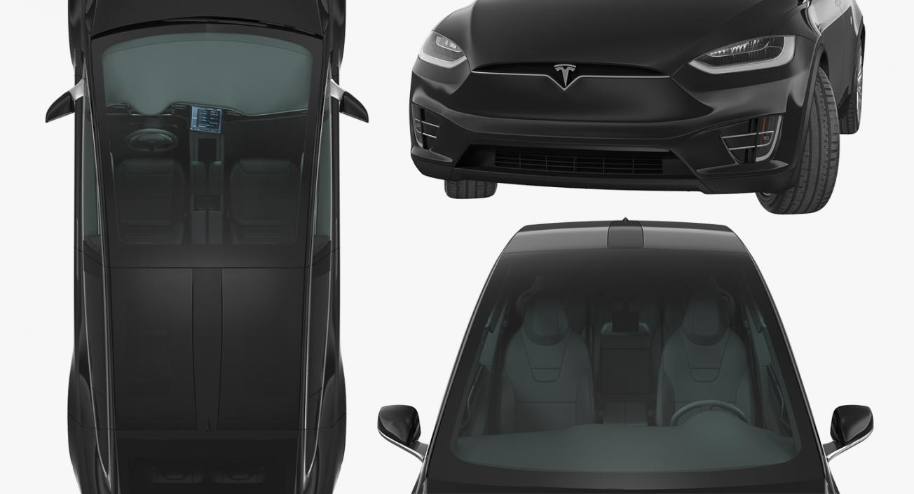 Tesla Model X 75D 2017 Rigged 3D model