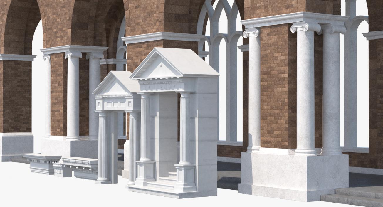 Greco Roman Architecture Elements Collection 3D model   3D