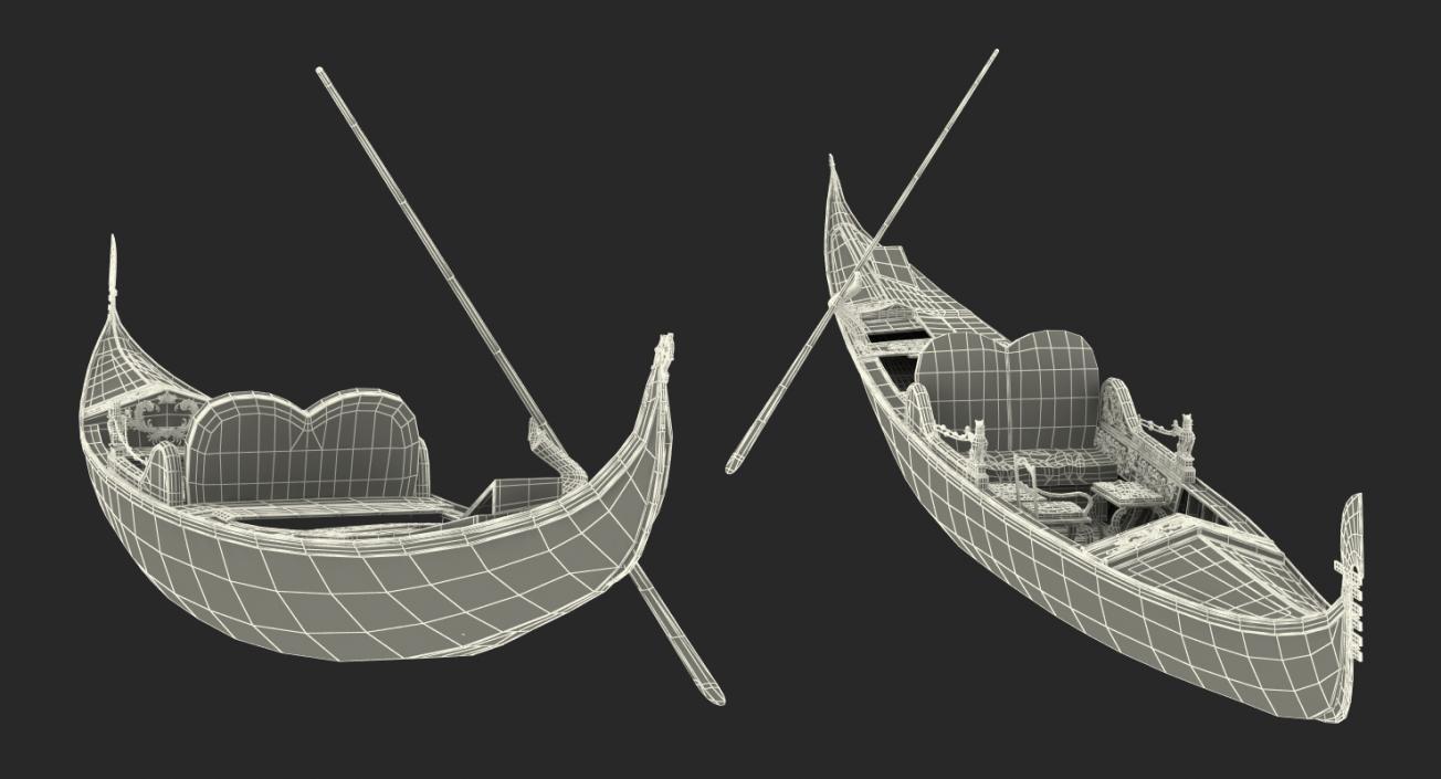 3D Venice Luxury Gondola