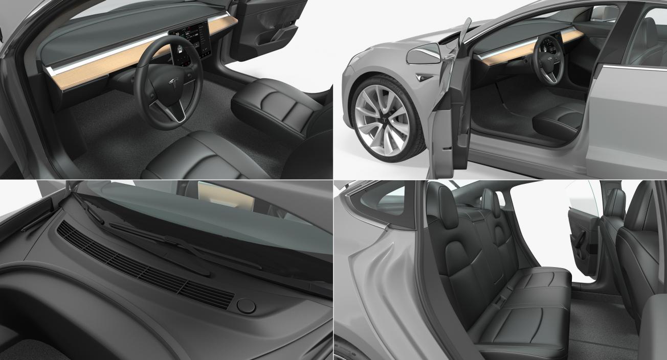 Tesla Model 3 Simple Interior 3D model