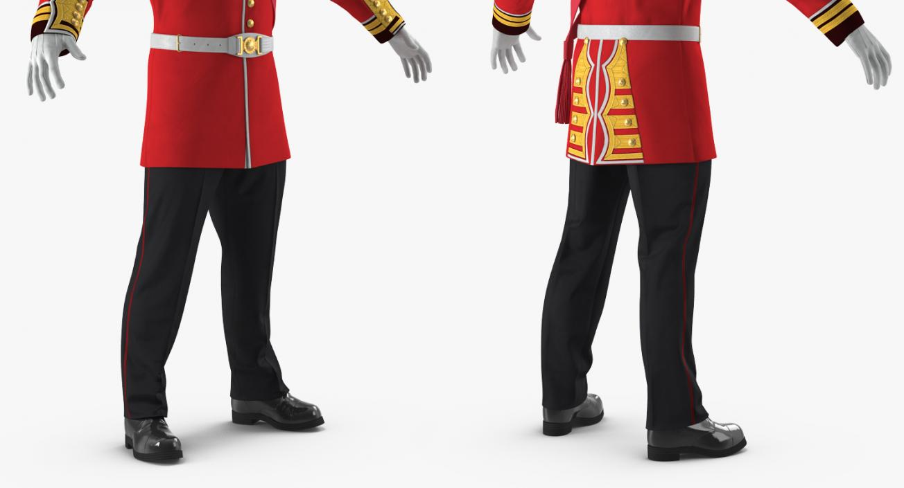 3D model Irish Guard Sergeant Uniform 2