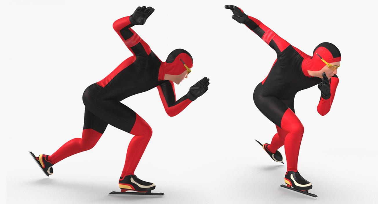 Speed Skater Generic Rigged 3D