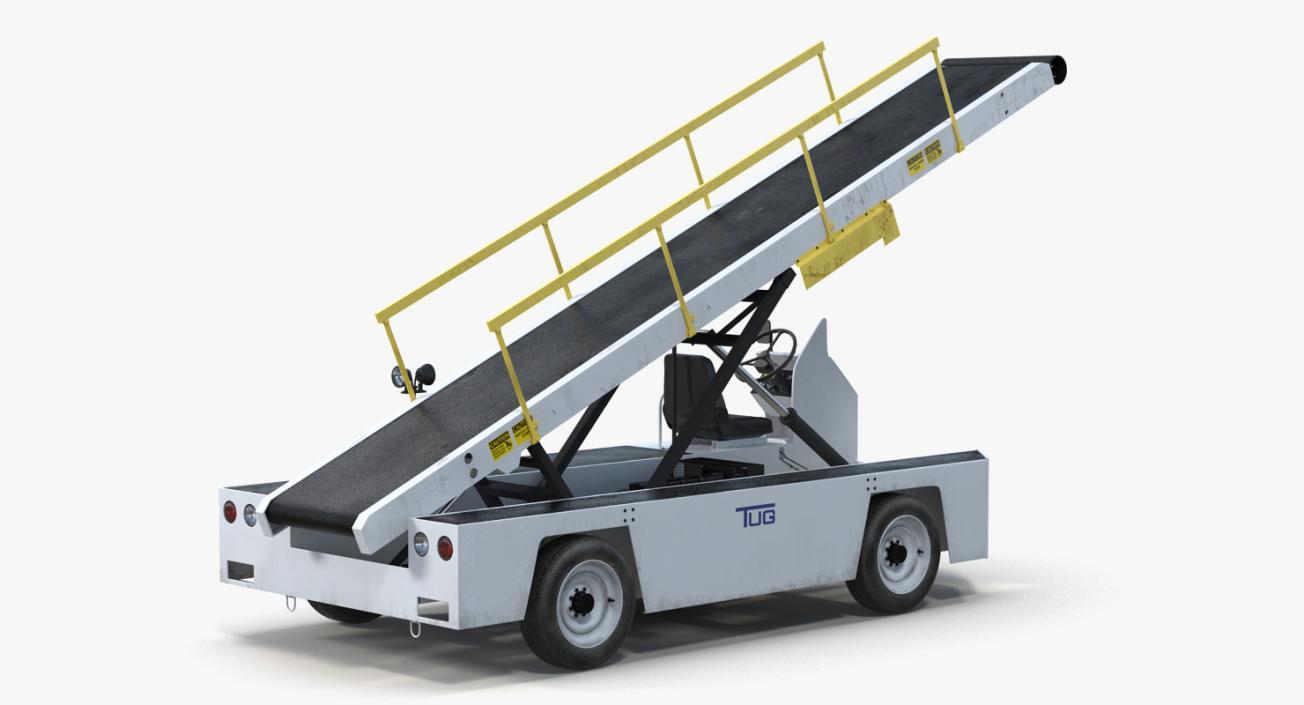 3D model Tug 660 Aircraft Belt Loader Rigged