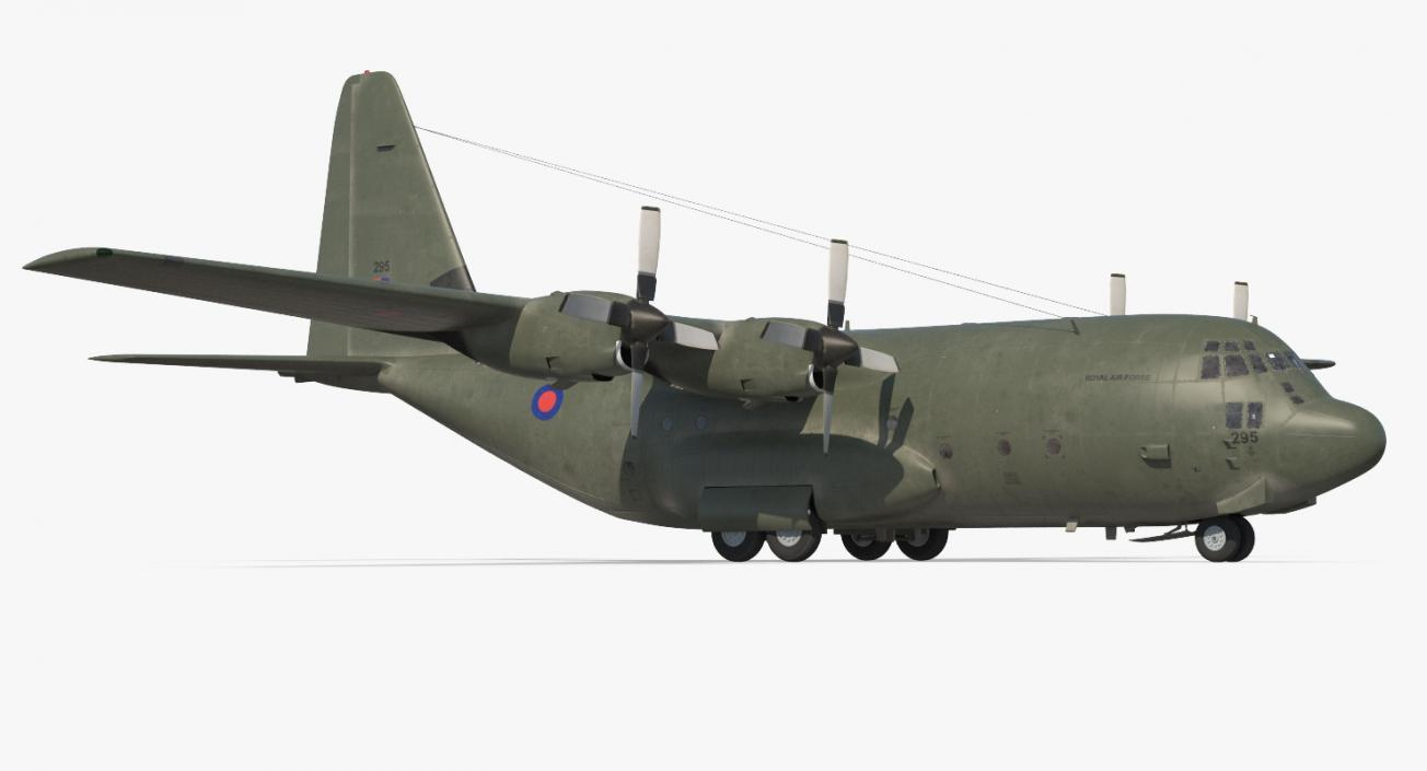 3D Lockheed Martin Hercules C130K Royal Air Force Rigged model