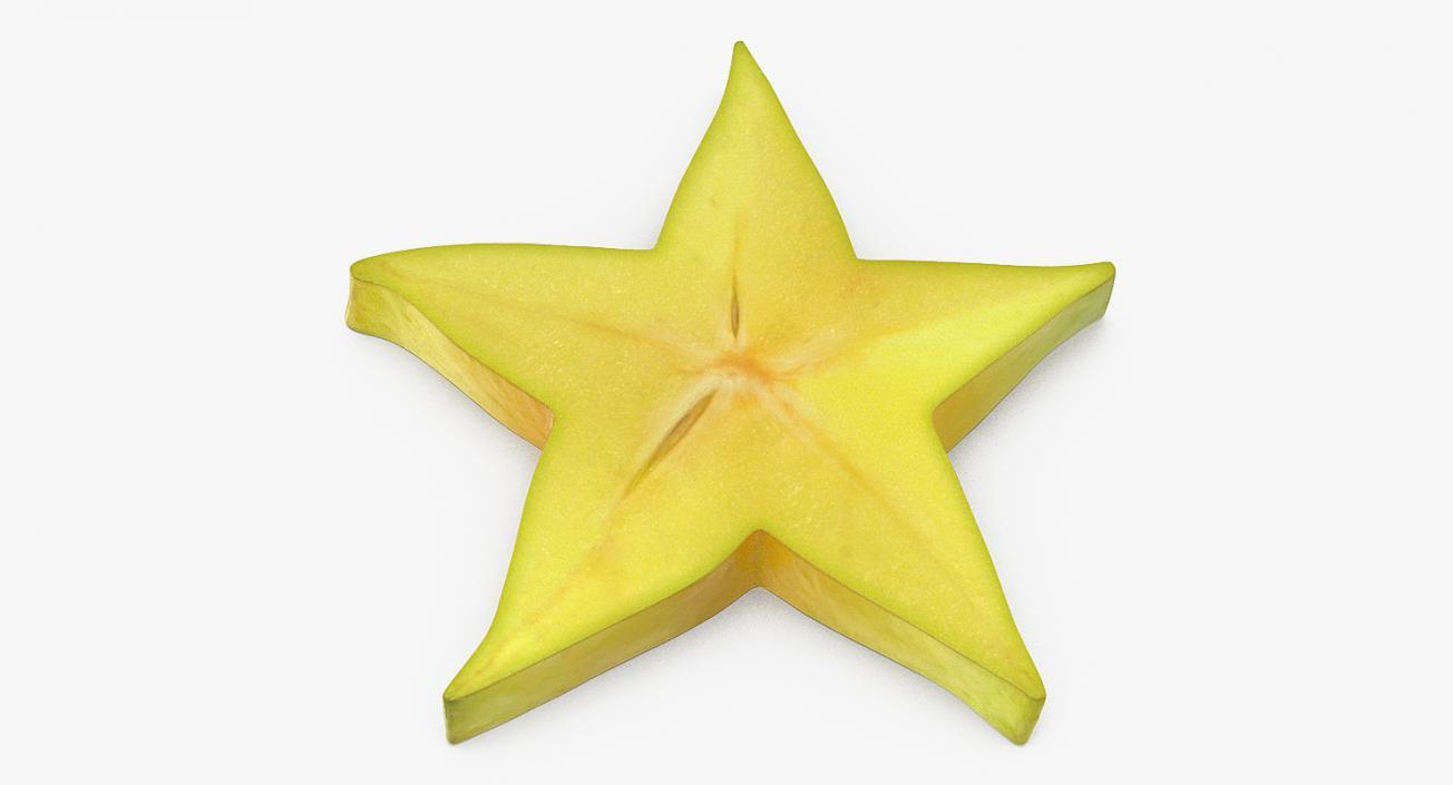 Star Fruit Or Carambola Slice 3D model