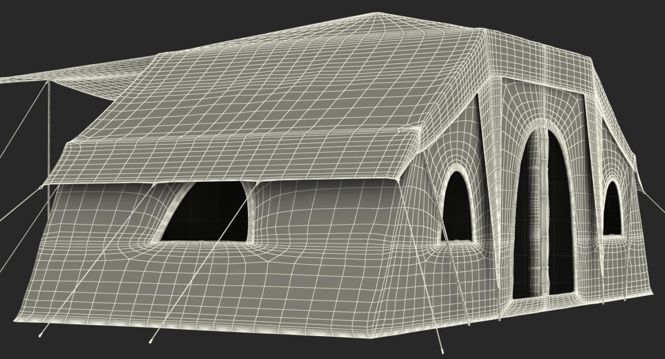 Deluxe Cabin Tent 3D