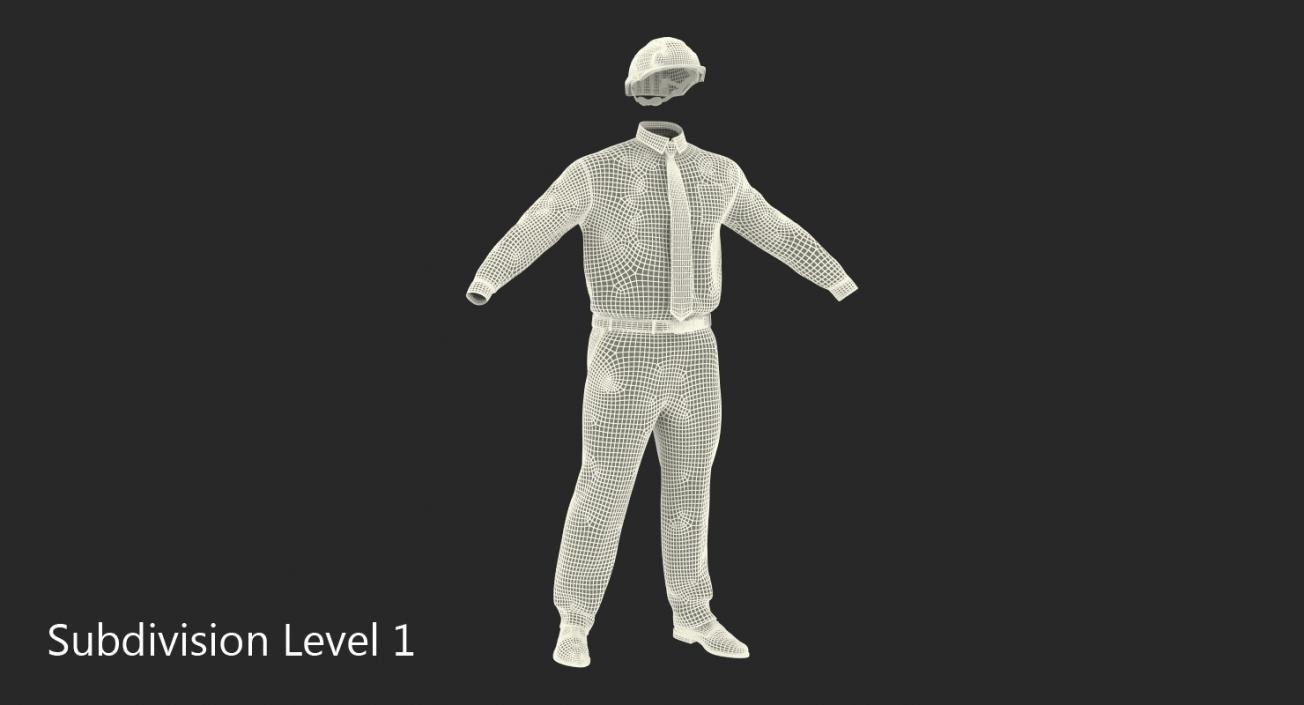 Construction Engineer Uniform 3D model