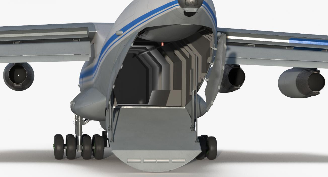 Ilyushin Il-76 Civil Transport Rigged 3D