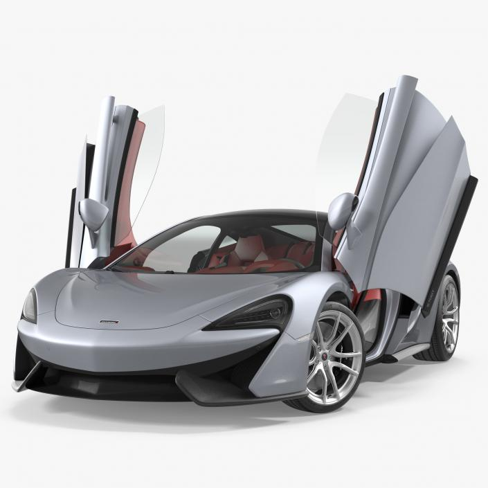 3D model McLaren 570GT 2017 Rigged