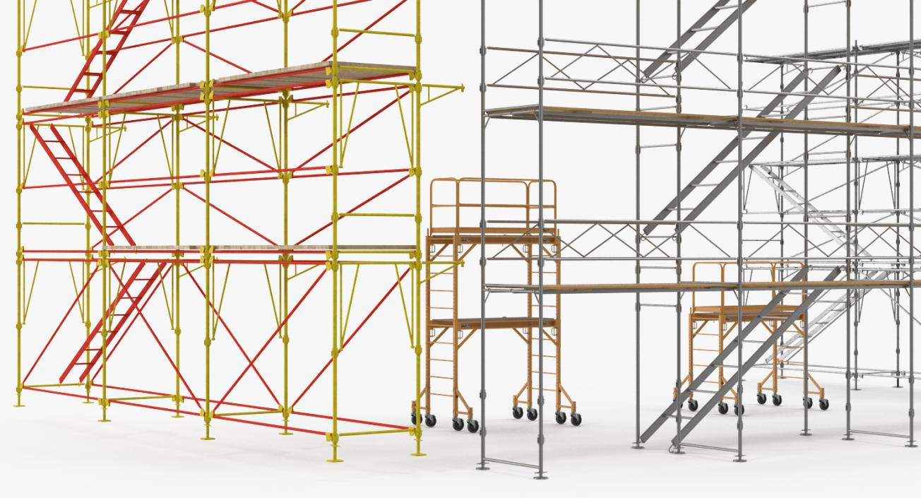 Scaffolding Collection 2 3D model