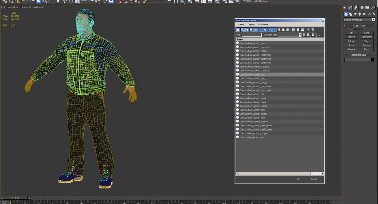 3D model Worker