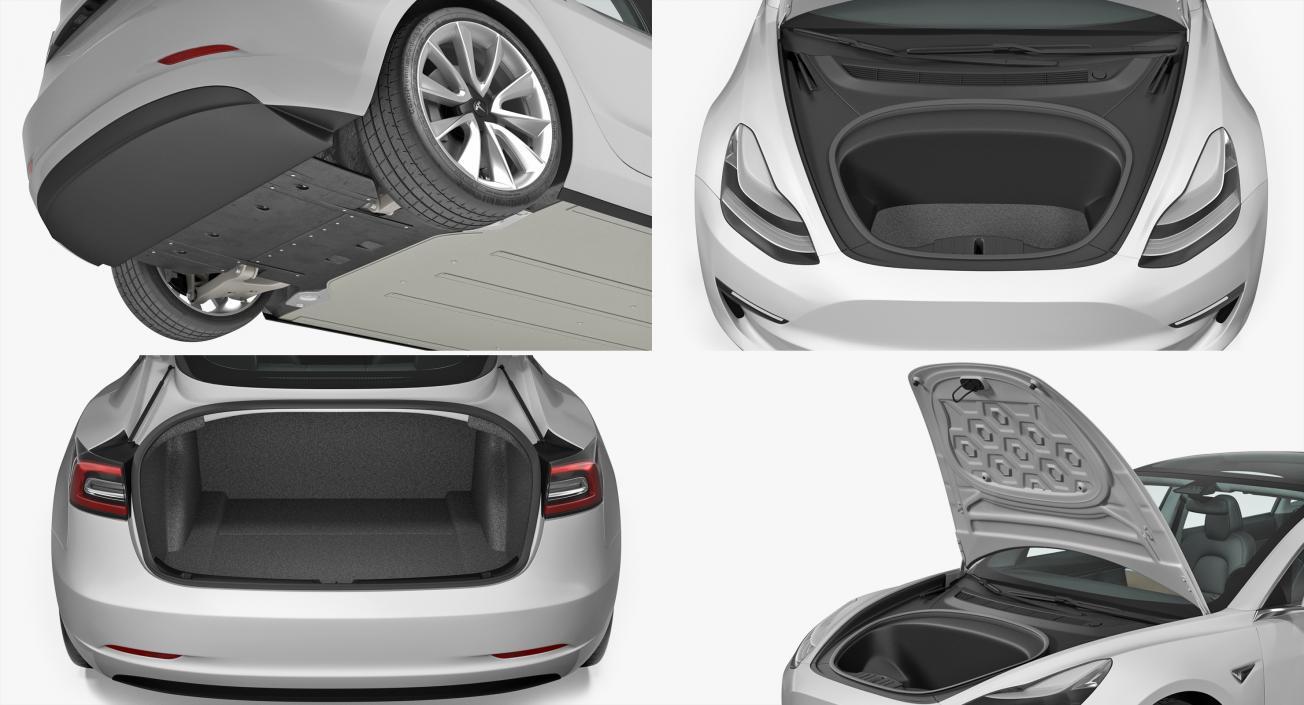 3D Tesla Model 3 model