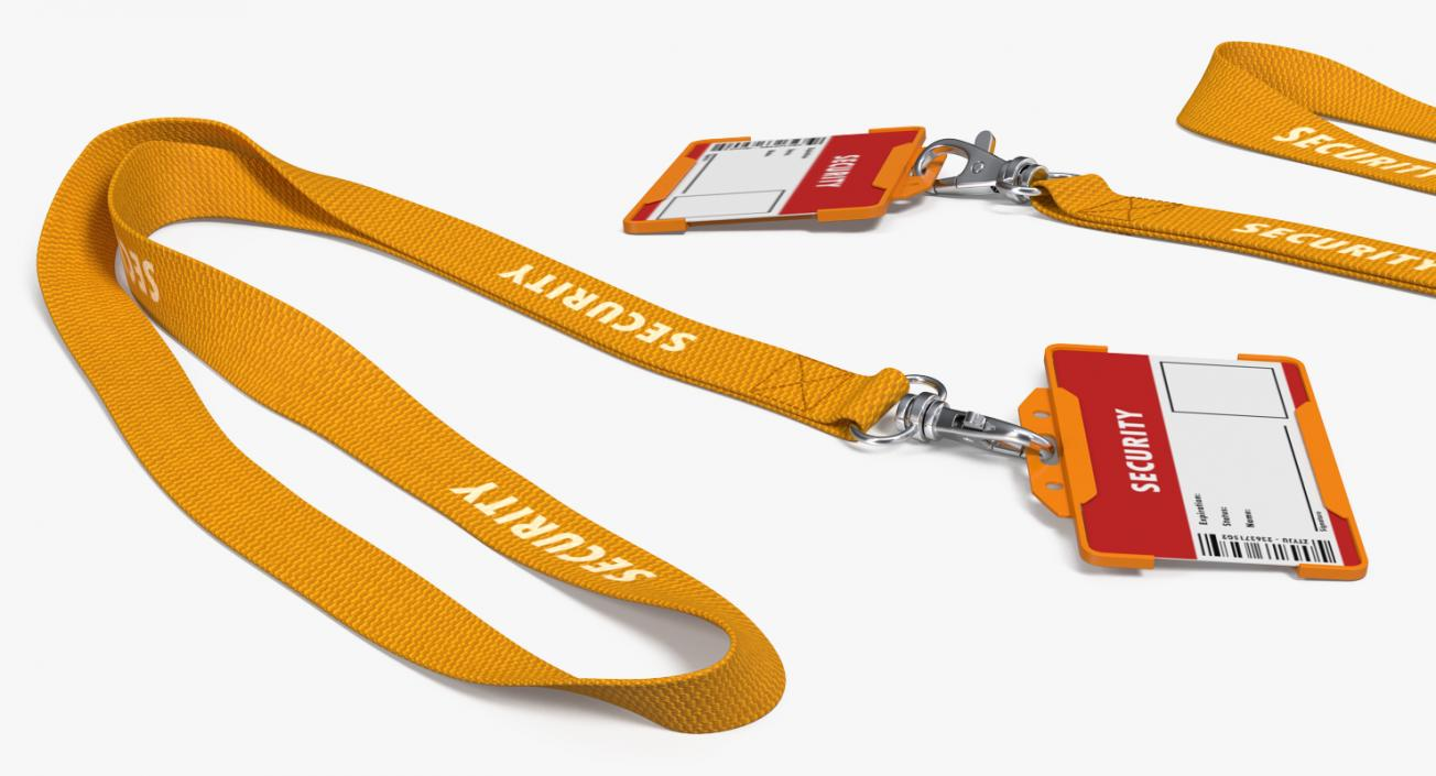 3D Security Lanyard with ID Card Holder | 3D Molier