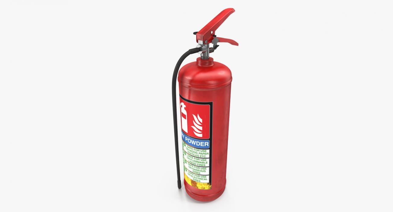 3D Red Fire Extinguisher