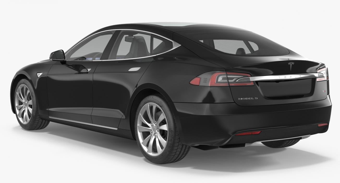 Tesla Model S 75D 2017 Rigged 3D model