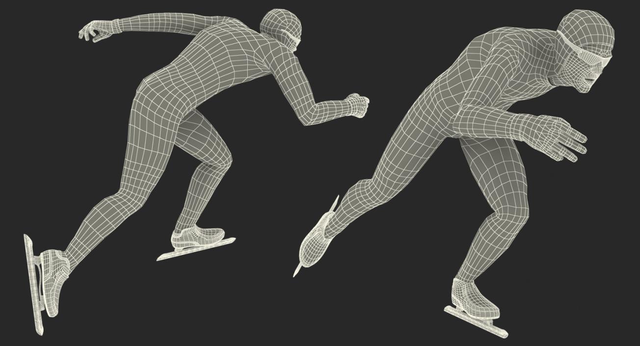 3D Speed Skater 2 Rigged