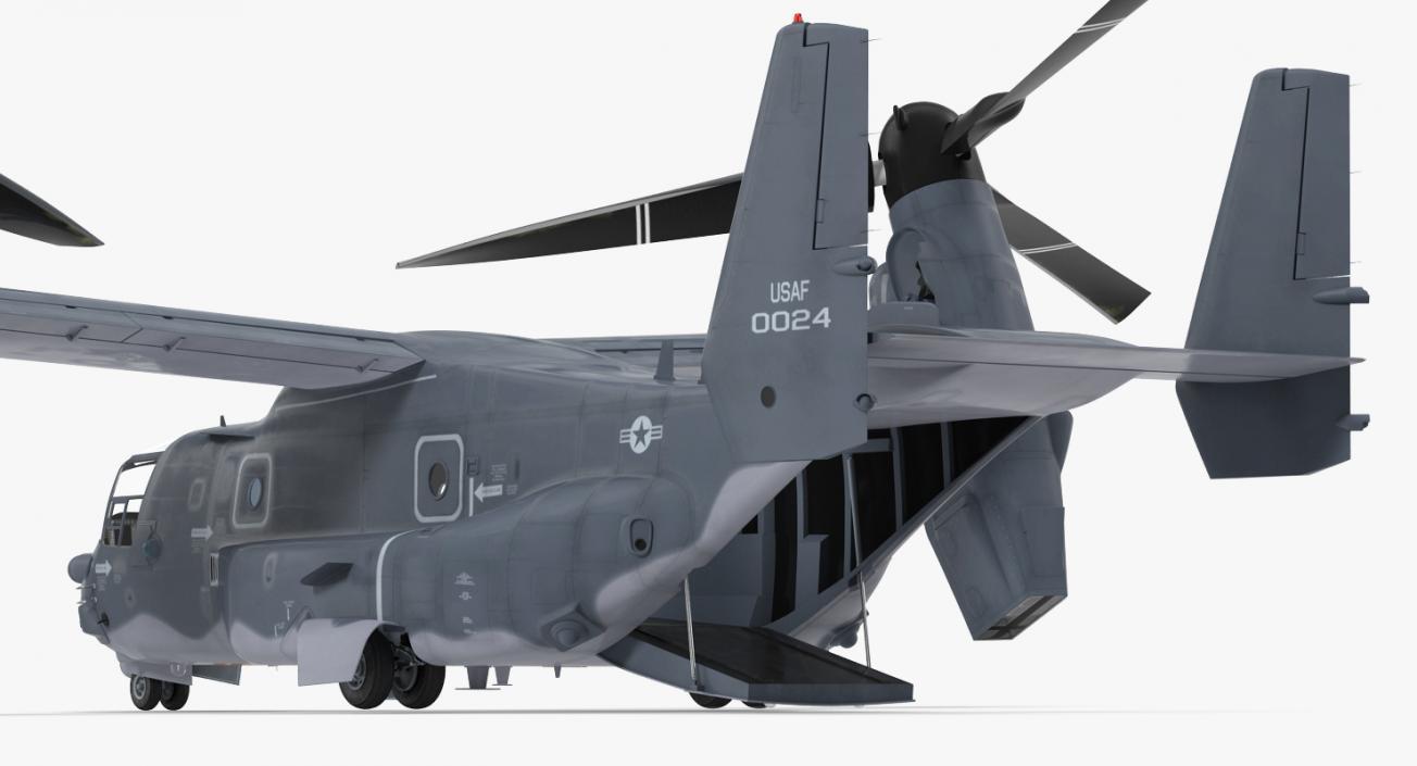 Military Transport Aircraft V-22 Osprey 3D model