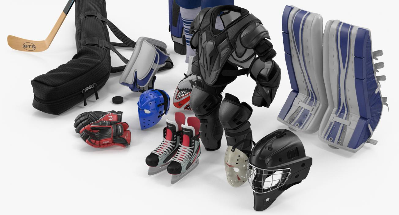 Hockey Equipment Collection 4 3D model