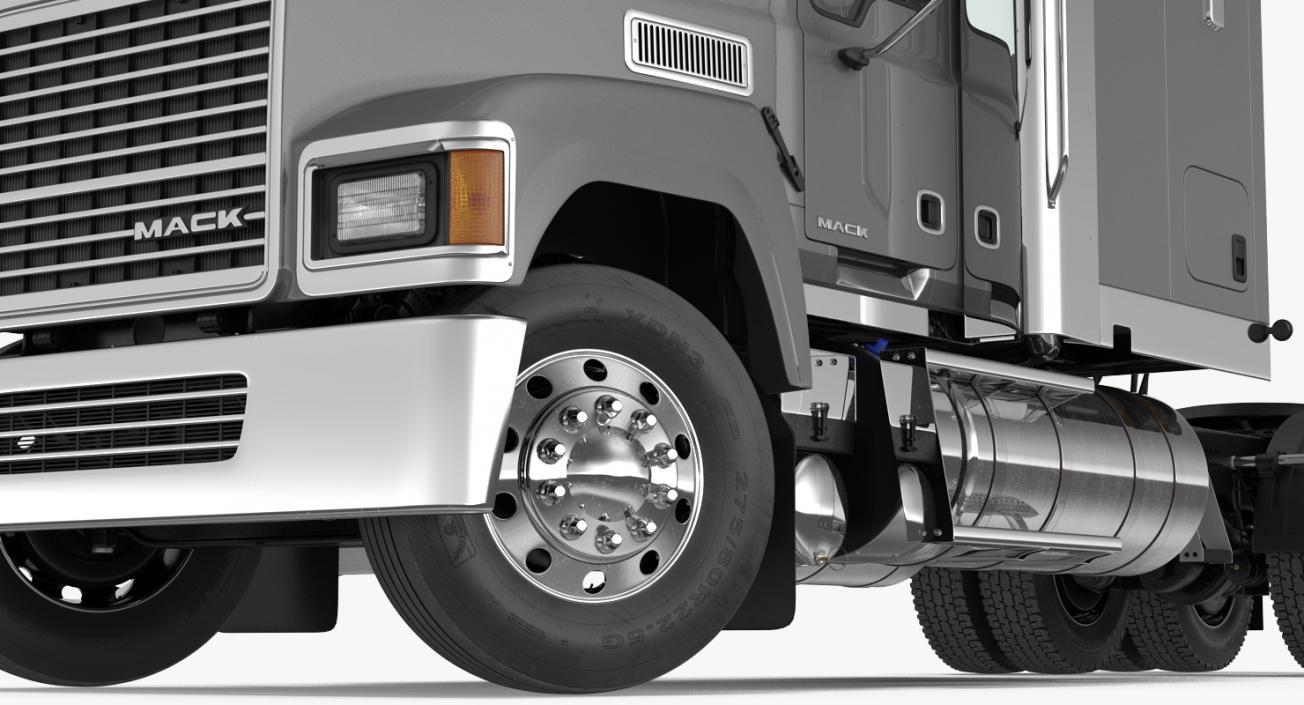3D model Trailer Truck Mack CHU613