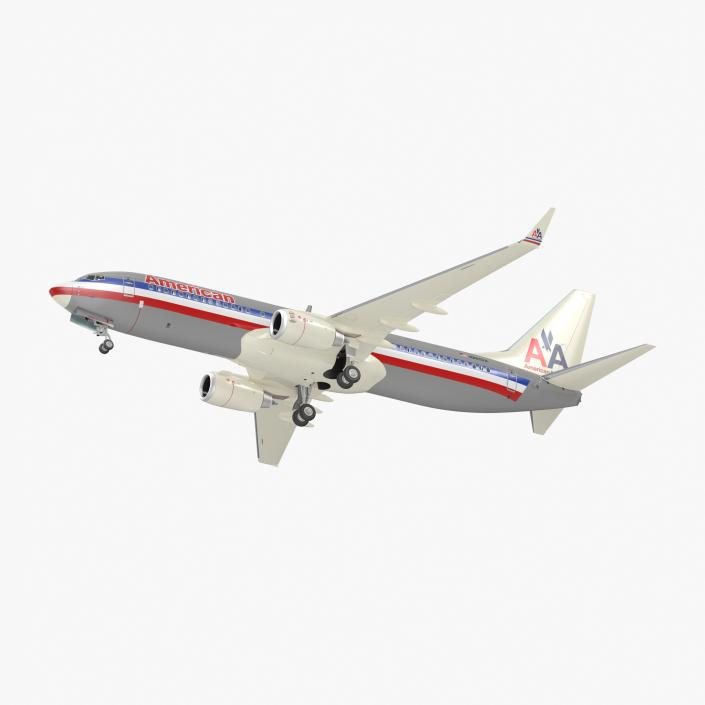 3D Boeing 737-800 with Interior American Airlines