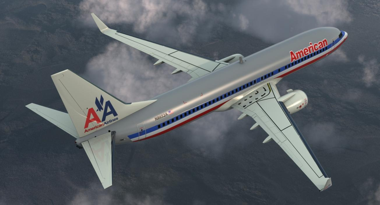 3D Boeing 737-800 with Interior American Airlines | 3D Molier ...
